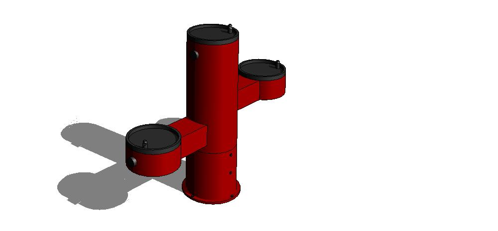Example of a Revit file from the project featuring a drinking fountain from Most Dependable Fountains catalog of outdoor products.