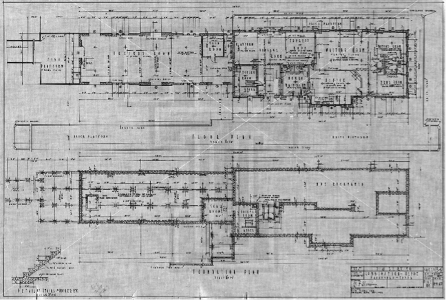 Panhandle Depot Floor Plan (Sheet 1)