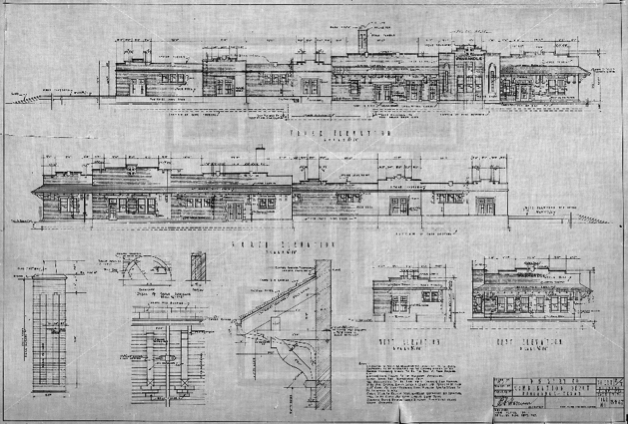 Architectural Drawings Of A Railway Company Archsec