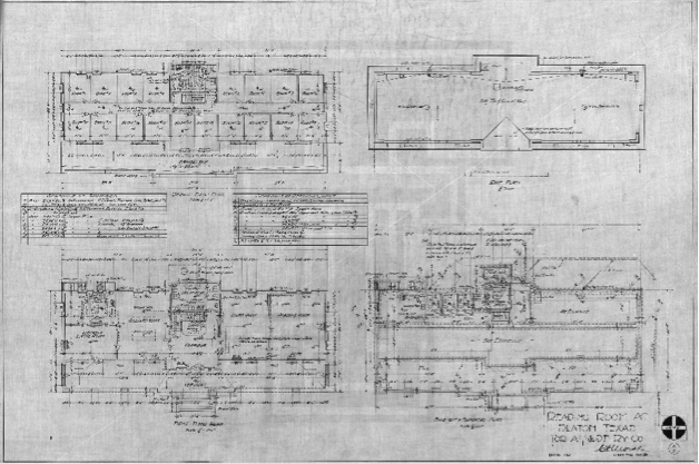 Slaton Reading Room Floor Plan (Sheet 1)