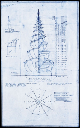 "Design for a ""Modern Christmas Tree,"" 1930, photo courtesy of the Ryerson & Burnham Archives, Art Institute of Chicago."